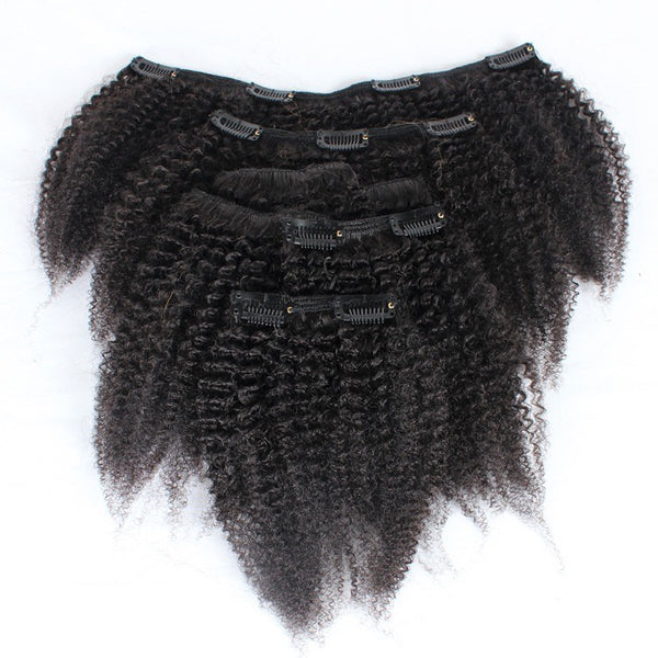 4b - 4c Afro Kinky Clip-In Hair Extensions