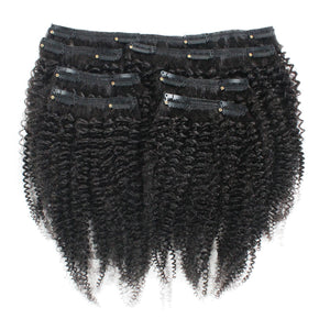 3c-4a Afro Coily Clip-In Hair Extensions