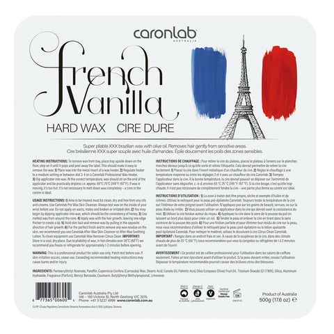 Caronlab French Vanilla Hard Hot Wax Pallet Tray 500g