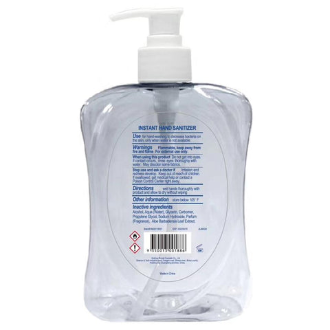 Hand Sanitiser / Sanitizer Gel with Aloe Vera - Kills 99.9% of Germs Rinse Free (500ml) - 24 Pack