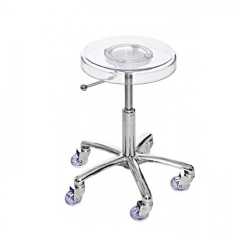 Joiken Clear Cutting Stool with Chrome Base