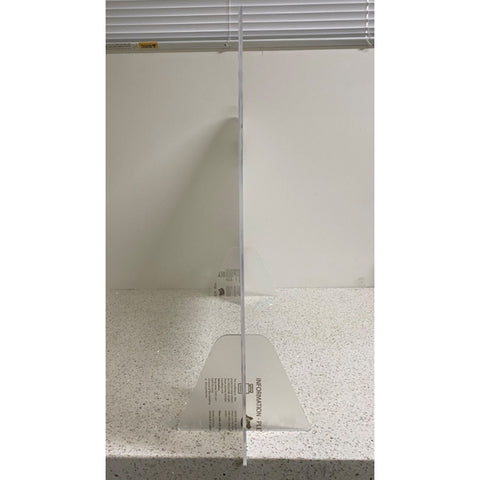 Sneeze Guard Clear Acrylic Protective Shield / Screen with Stand (765W x 600H)