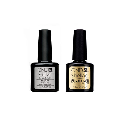 CND Shellac Base Coat & DuraForce Top Coat Pack (7.3ml)