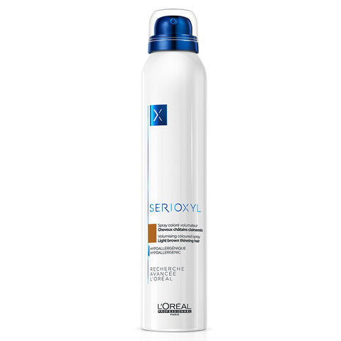 L'Oreal Professionnel Serioxyl Volumising & Bodifying Coloured Spray - Light Brown (200ml)