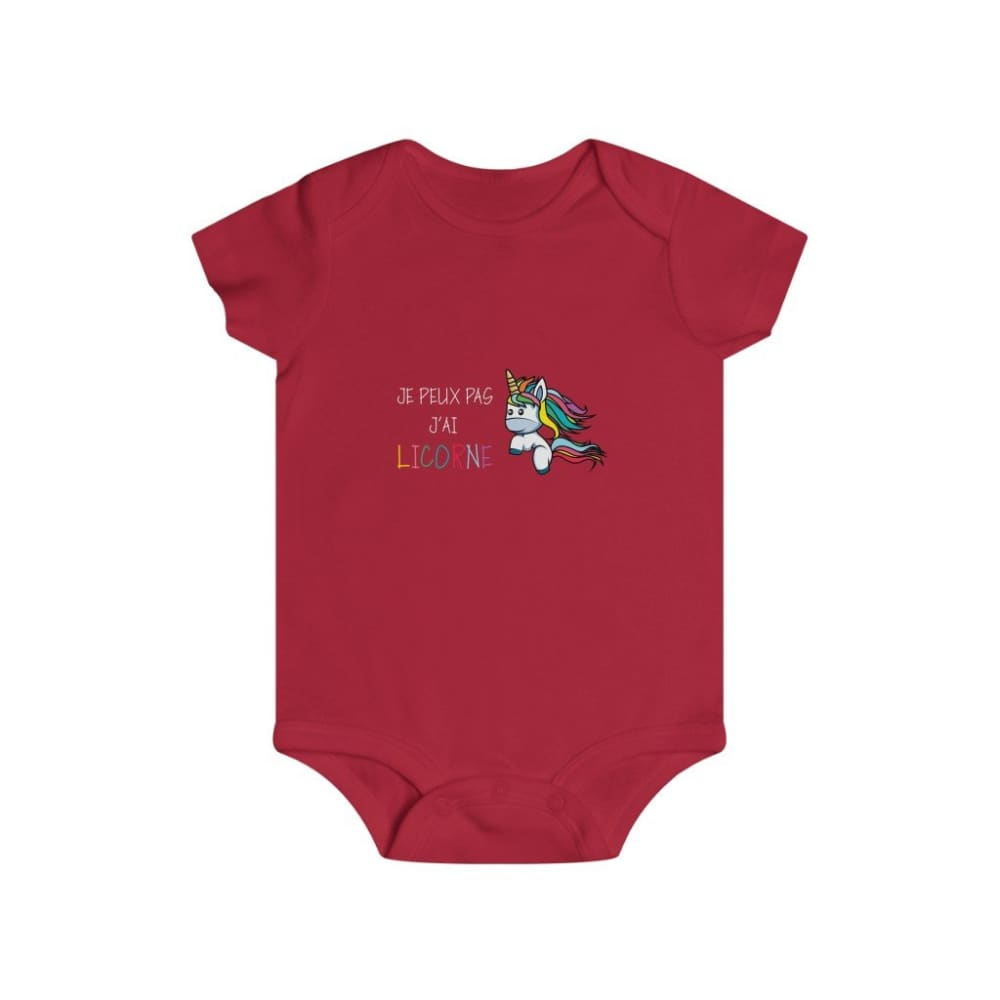 Body je peux pas j'ai poney blanc - Red / 6m - Bodys - bébé