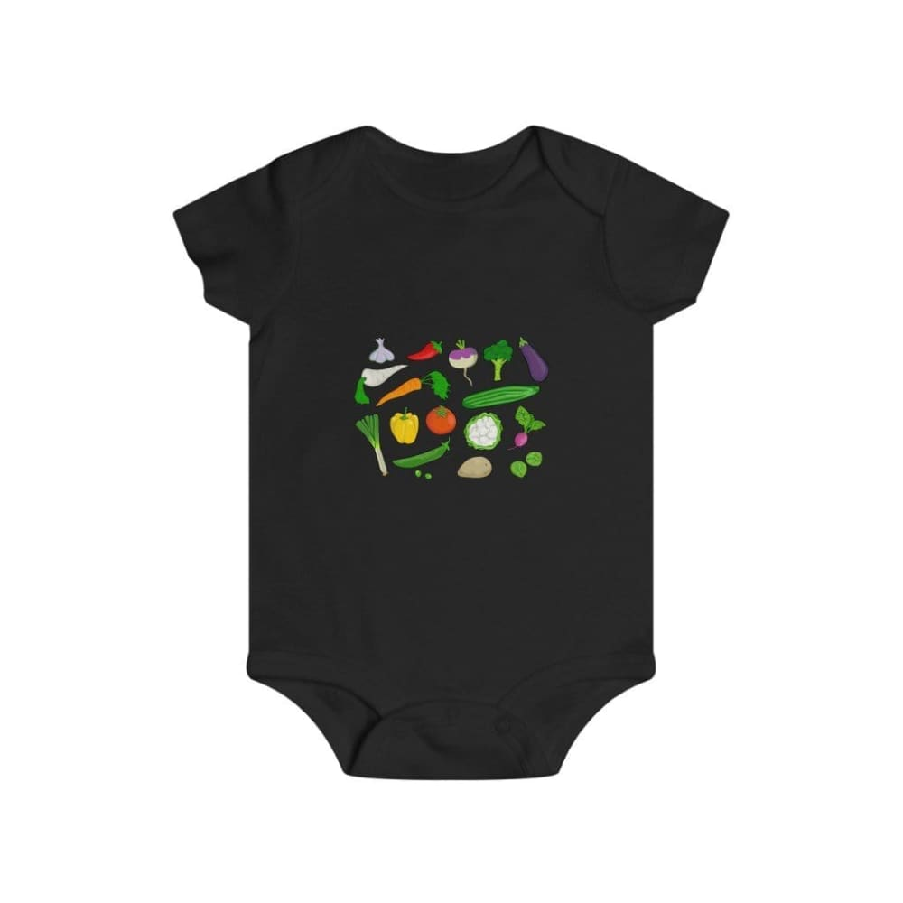 Body légumes du jardin - Black / 6m - Bodys - bébé - Regular