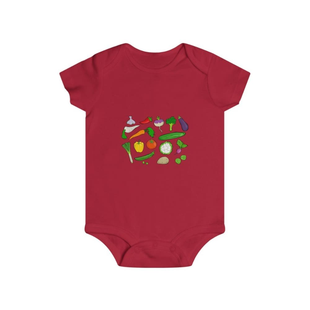 Body légumes du jardin - Red / 6m - Bodys - bébé - Regular