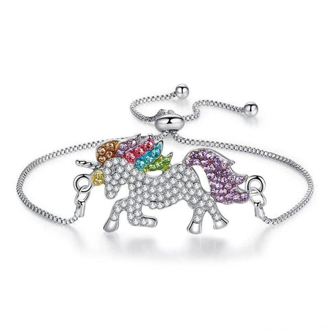 Bracelet licorne diamanté - 1 / 41x25mm