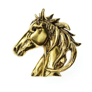 Broche tête de cheval or/argent - OR