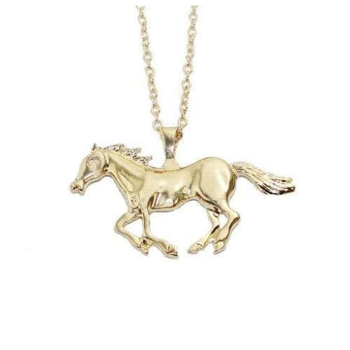 Collier cheval au galop style or