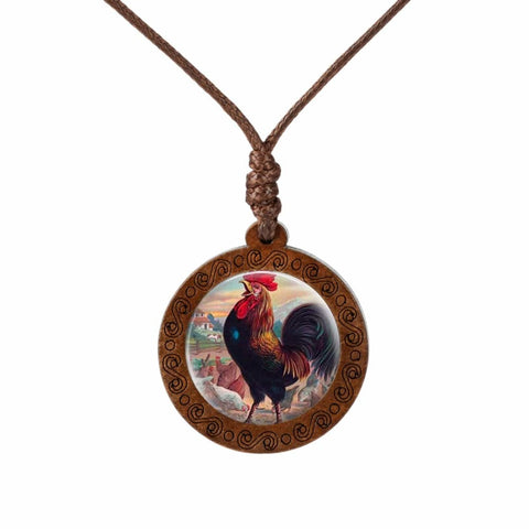 Collier style vintage coq