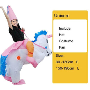 Costume gonflable licorne multicolore - 1 / S