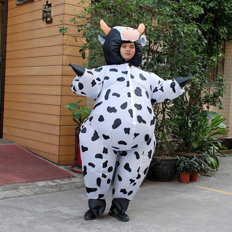 Costume gonflable vache adulte - 1