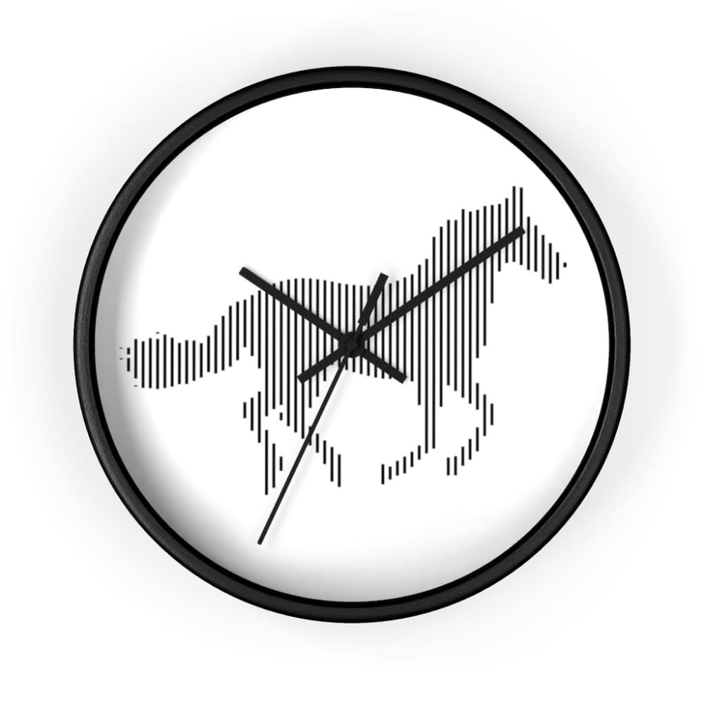 Horloge cheval au galop - 10 in / Black / Art & Wall Decor -