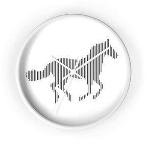 Horloge cheval au galop - 10 in / White / Art & Wall Decor -