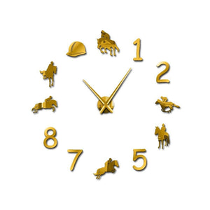 Horloge équitation simple - OR / 27inch