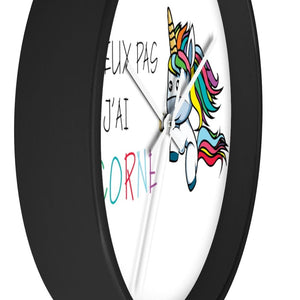 Horloge je peux pas j'ai licorne - Art & Wall Decor - Home