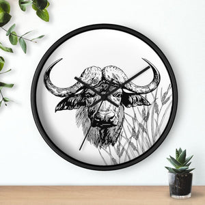 Horloge taureau africain - Art & Wall Decor - Home Living