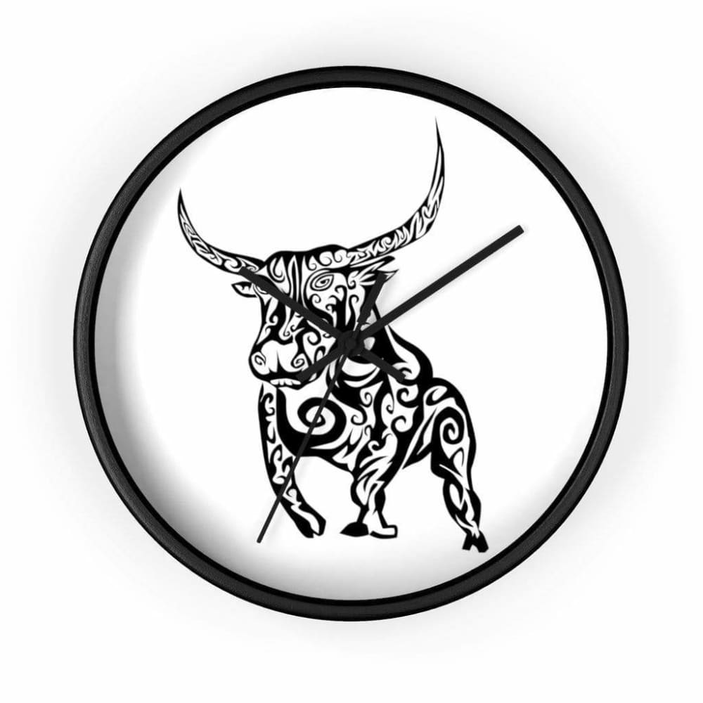 Horloge taureau féroce - 10 in / Black / Art & Wall Decor -