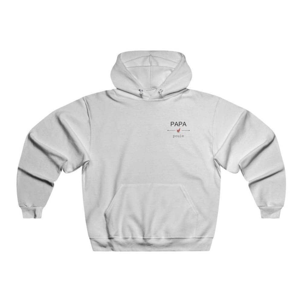 Men's NUBLEND® Hooded Sweatshirt - S / White - DTG - Hoodies