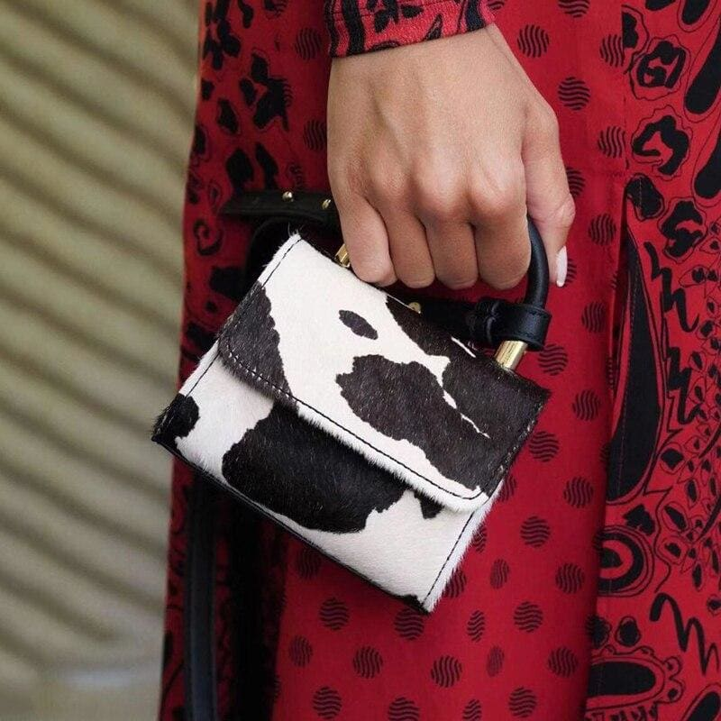 Mini sac à mains vache style luxueux - cow