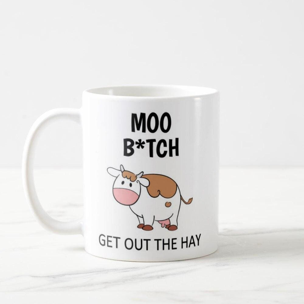 Moo Cow Mug Coffee Lover Gift Black cow Cartoon ows -