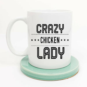 Mug crazy chicken lady - noir et blanc / 301-400ml