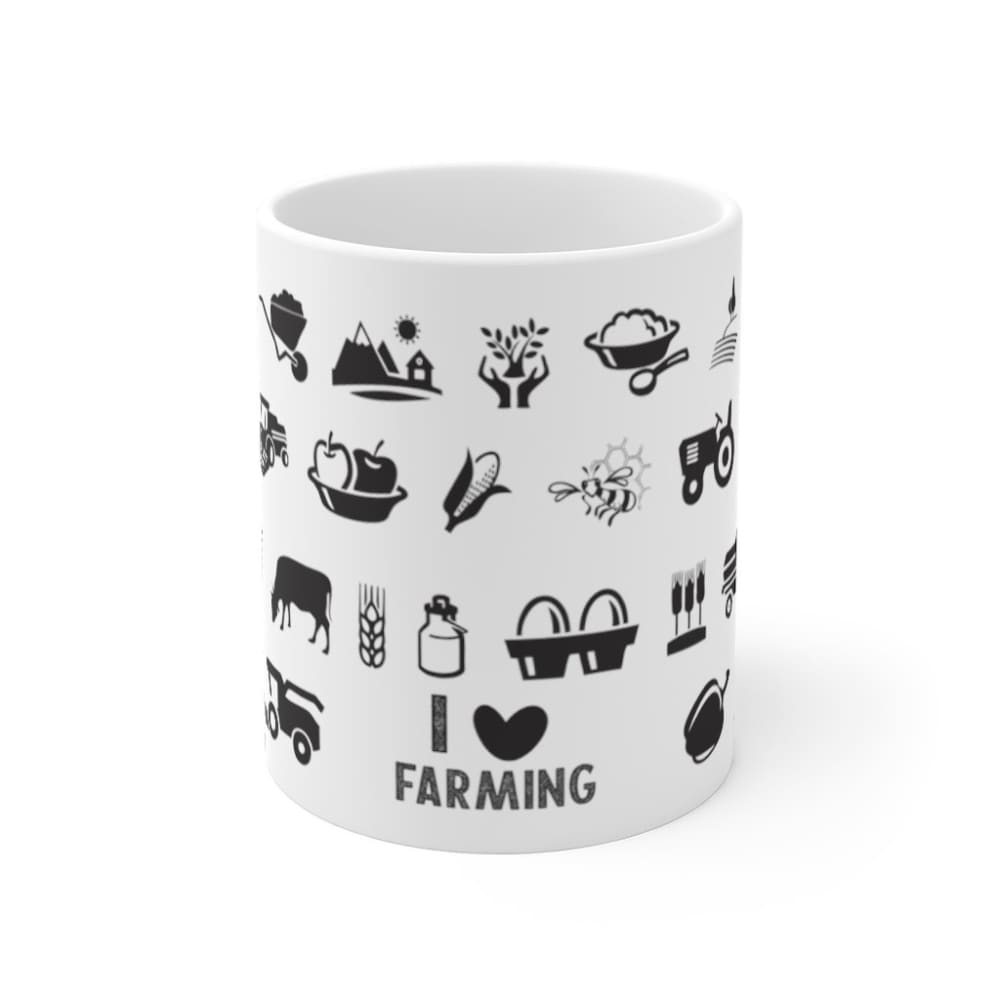 Mug I love farming - 11oz - 11 oz - Home & Living - Mugs -