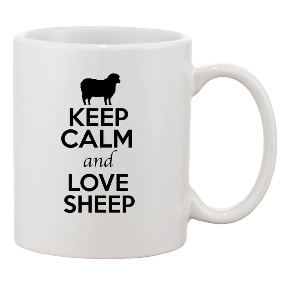 Mug keep calm and love sheep - A / 301-400ml