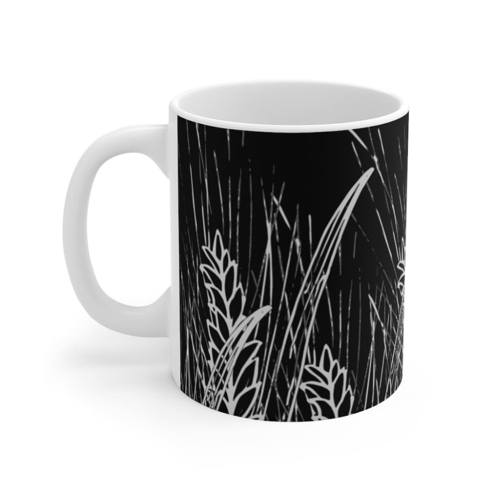Mug noir champ de blé - 11oz - 11 oz - Home & Living - Mugs