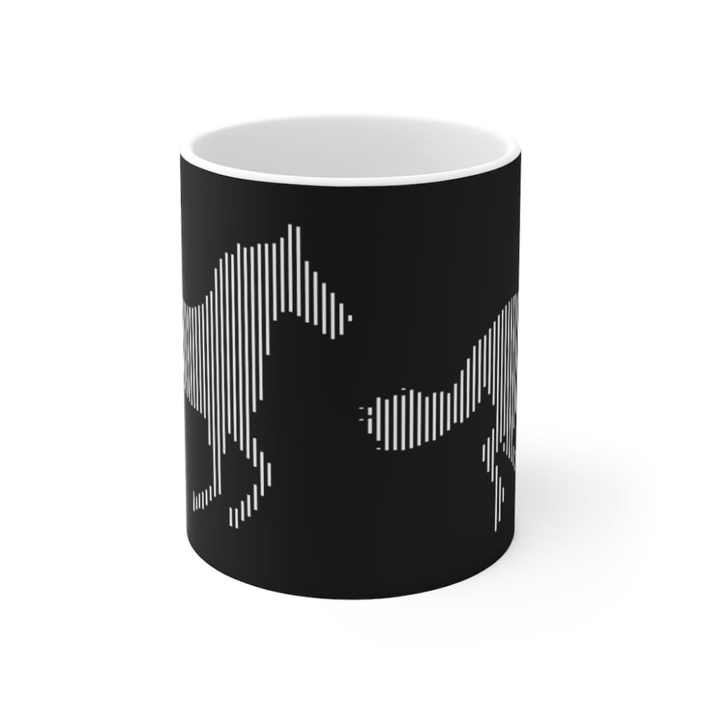 Mug noir cheval au galop - 11oz - 11 oz - Home & Living -