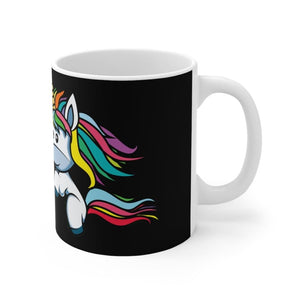 Mug noir sorry I can't have plans with my unicorn (licorne)