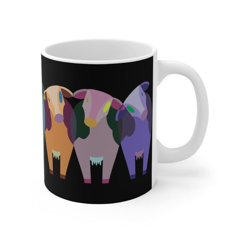 Mug noir vaches multicolores - 11oz - 11 oz - Home & Living