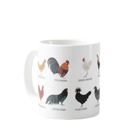 Mug races de poule - TURKEY / White / 301-400ml