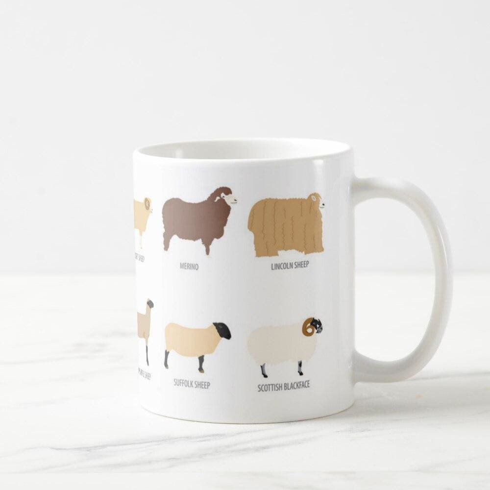 Mug races moutons - blanc / 400/500ml