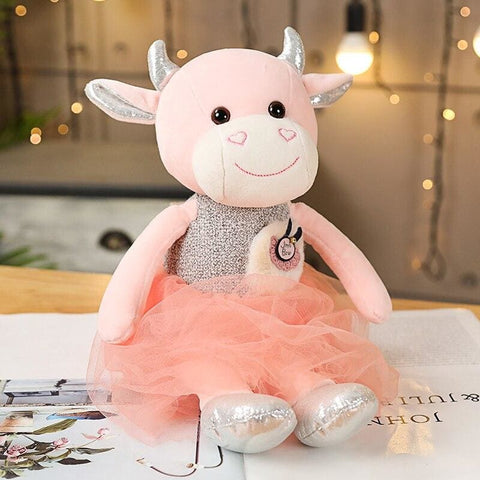 Peluche vache rose en tutu - 38cm / 1 / UK