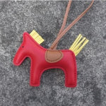 Pendentif cheval simple duo couleur - ROUGE