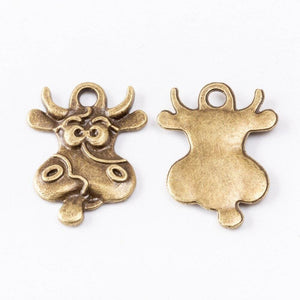 Pendentif vache folle style antique - Antique Bronze Plated