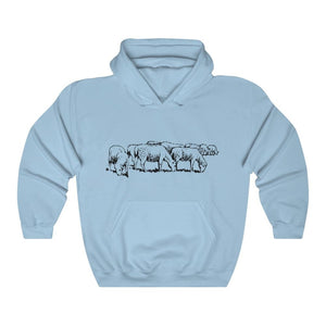 Pull à capuche moutons - Light Blue / S - DTG - Hoodies -
