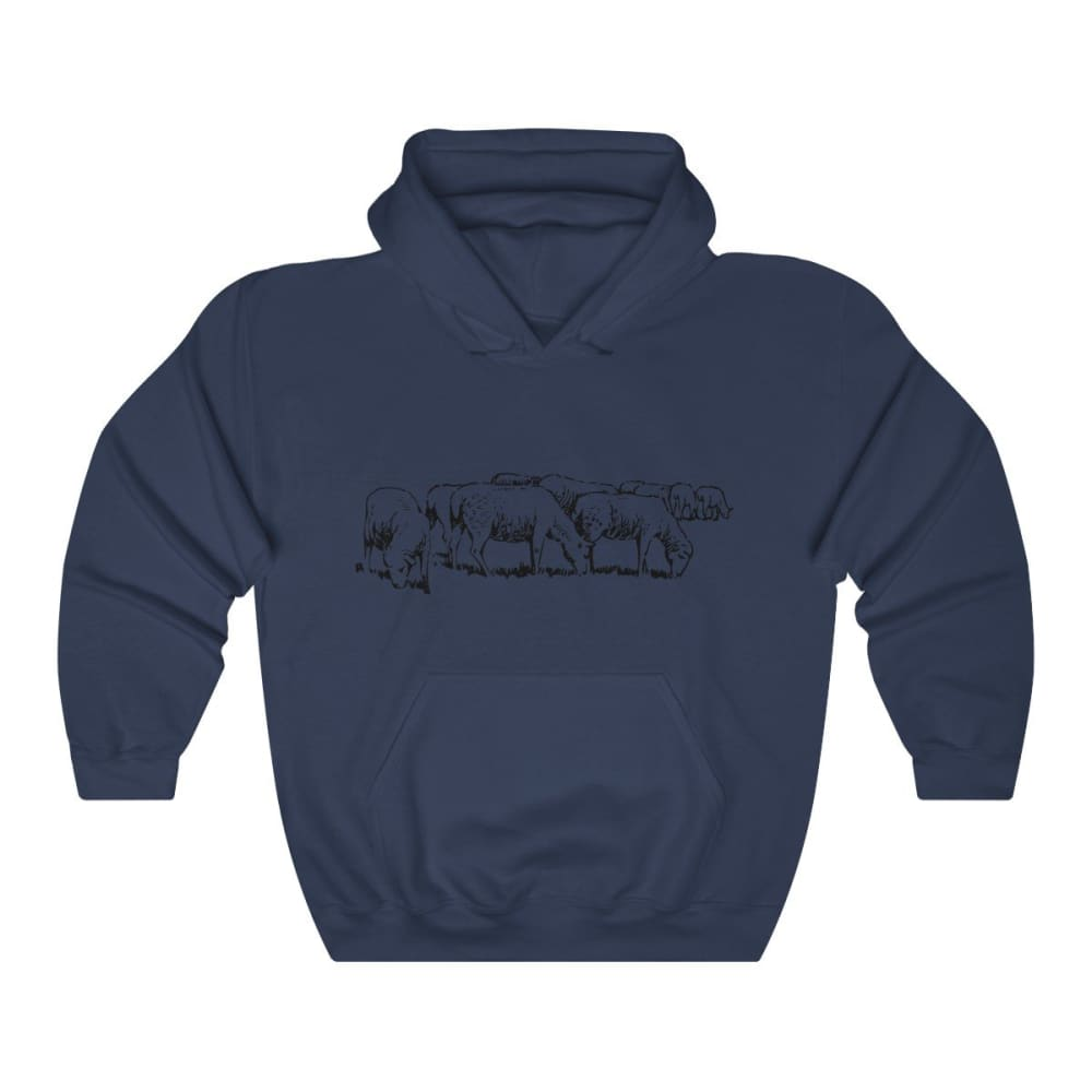 Pull à capuche moutons - Navy / S - DTG - Hoodies - Men's