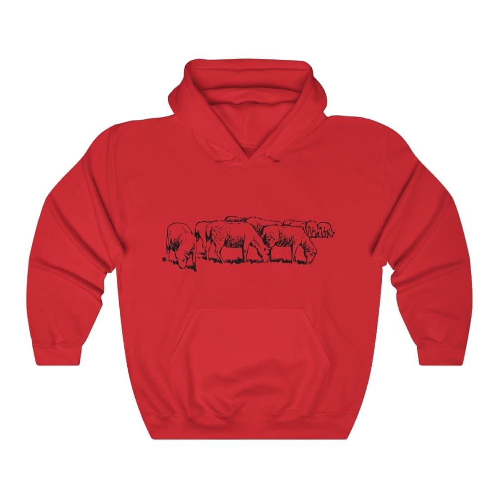 Pull à capuche moutons - Red / S - DTG - Hoodies - Men's