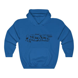 Pull à capuche moutons - Royal / S - DTG - Hoodies - Men's