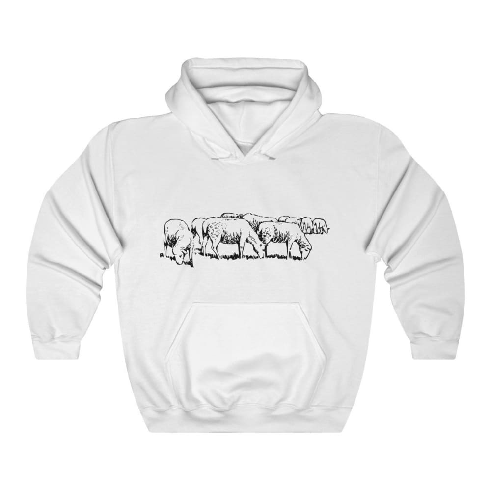 Pull à capuche moutons - White / L - DTG - Hoodies - Men's