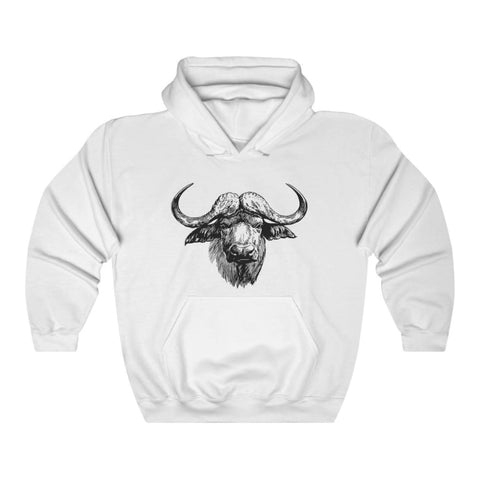 Pull à capuche vache africaine - White / L - DTG - Hoodies -