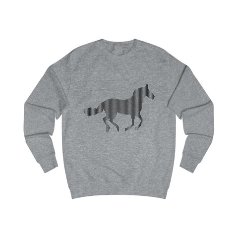 Pull cheval au galop - Heather Grey / L - DTG - Men's