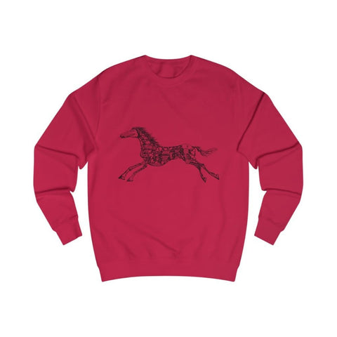 Pull cheval mécanique - Fire Red / L - DTG - Men's Clothing
