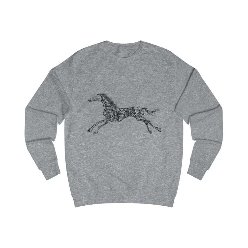 Pull cheval mécanique - Heather Grey / S - DTG - Men's