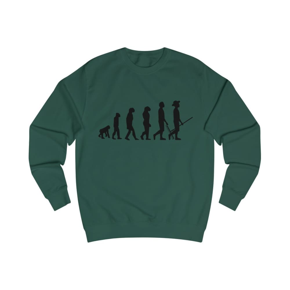 Pull évolution de l'homme - Bottle Green / S - DTG - Men's