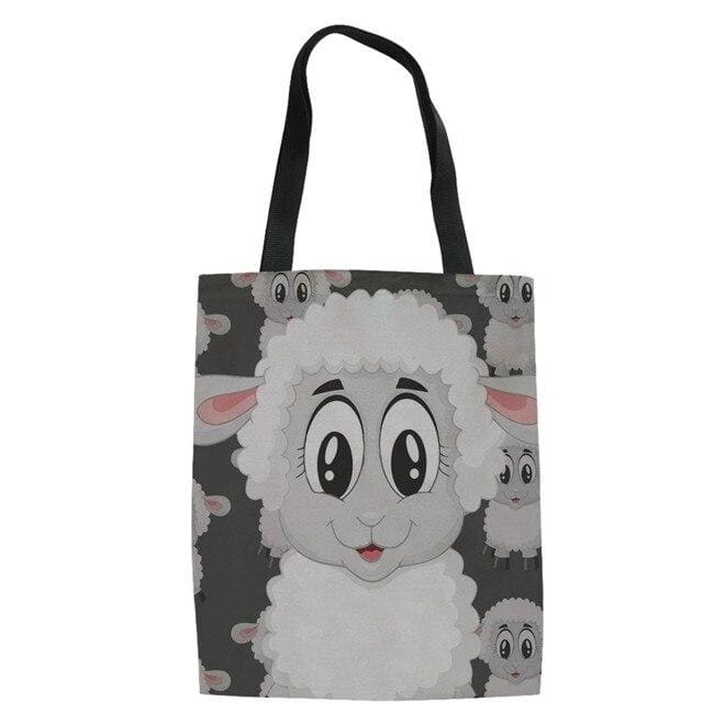Sac à bandoulière mouton cartoon blanc - Blanc
