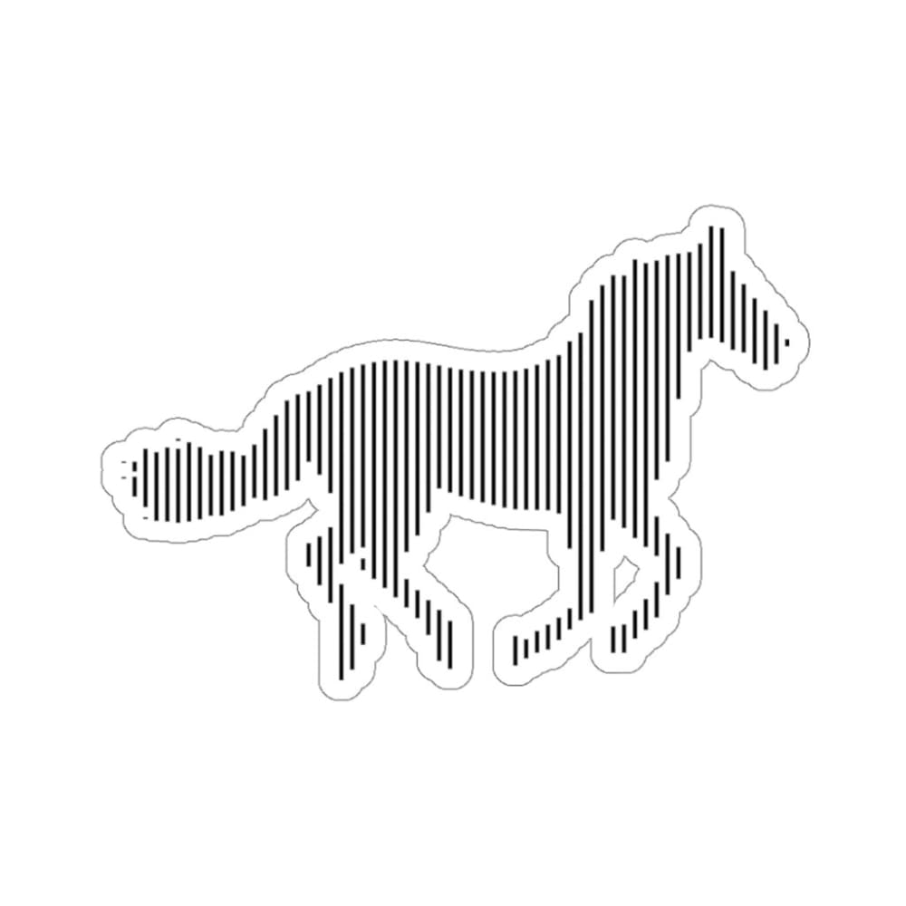 Stickers cheval au galop - 6x6 / White - Home & Living